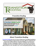 Transition Roofing: Austin Roofing Company