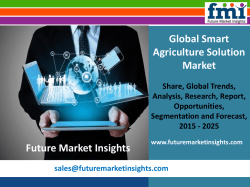 Smart Agriculture Solution Market Value Share, Analysis and Segments 2015-2025 by Future Market Insights