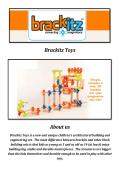 Brackitz Building Toys for Kids (800-428-4535)