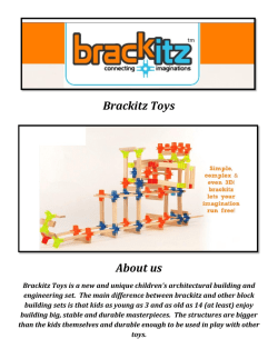 Brackitz Building Toys for Kids (800-428-4535)