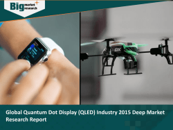 Global Quantum Dot Display (QLED) Industry 2015 Deep Market Research Report