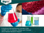 Global and Chinese 4-Hydroxyl Benzophenone Laurate (CAS 142857-24-7) Industry Analysis and Overview 2015