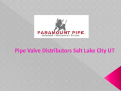 Pipe Valve Distributors Salt Lake City UT