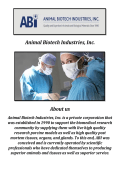 Post Mortem Tissues By Animal Biotech Industries, Inc.