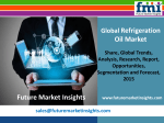 Refrigeration Oil Market Volume Analysis, size, share and Key Trends 2015-2025 by FMI Estimate