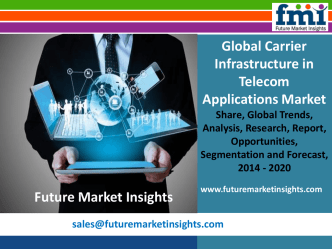 Carrier Infrastructure in Telecom Applications Market Value Share, Analysis and Segments 2014 – 2020 by Future Market Insights