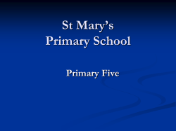 P5 Curriculum Meeting - St Mary`s Primary School, Granemore