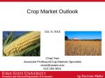 Crop Market Outlook - Department of Economics