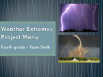 WEATHER PROJECT MENU