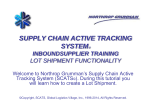 SCATS Inbound Lot Training - Northrop Grumman Corporation