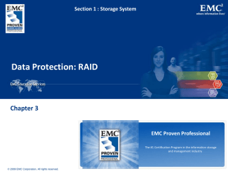 Chapter 3: Data Protection - RAID