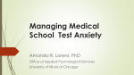 Managing Medical School Test Anxiety