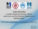 Infant Mortality: A health disparity between African Americans and