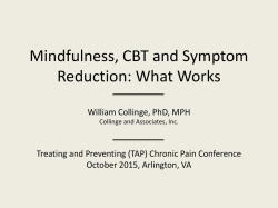 William Collinge - (TAP) Chronic Pain Conference