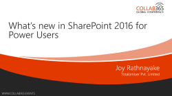 What`s new SharePoint 2016 for Power Users