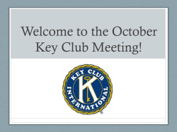 Welcome to the October Key Club Meeting!