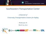 UT - Technologies for Safe and Efficient Transportation