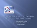 Geothermal Heat Pumps Advantages CTGeo Assn