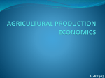 agricultural production economics agr#403
