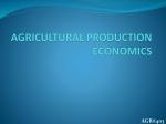 agricultural production economics agr#403