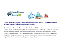 United Kingdom Wound Care Management Market Statistics, Industry Analysis, Trends, Growth And Forecast Outlook to 2020