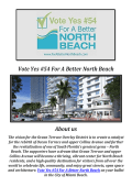 Vote Yes #54 - For A Better North Beach
