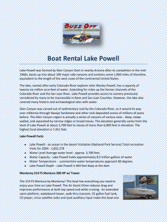Boat Rental Lake Powell