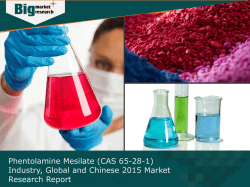 Global and Chinese Phentolamine Mesilate (CAS 65-28-1) Industry Size and Growth rate 2015