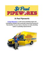 Plumbing Services From St Paul Pipeworks in MN