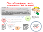 Fiche méthodologique 3: How to* understand / approach an Oral