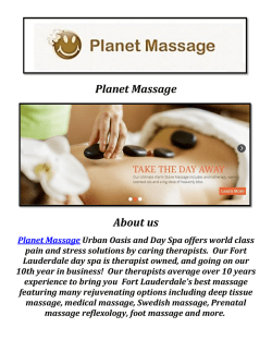 Planet Massage School Fort Lauderdale ( 954-763-1619 )