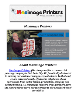 Maximage Printers: Printing Company in Salt Lake City