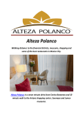 Alteza Polanco : Mexico City Polanco Hotels