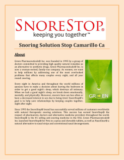 Snoring Solution Stop Camarillo Ca