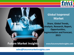 Current and Projected Isoprenol Market size in terms of volume and value 2015-2025 by FMI Estimate