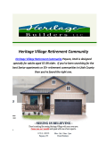 Heritage Village Retirement Community : 55+ Community Utah