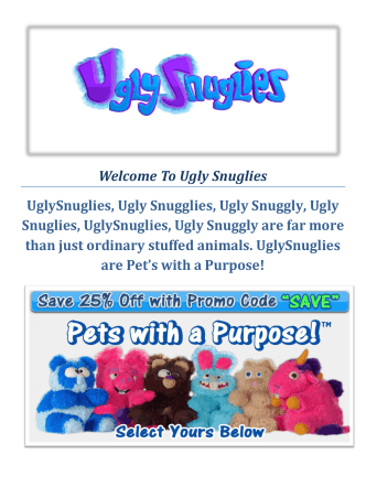 Buy your ugly snuggles today : Ugly Snuglies