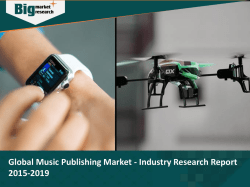 Global Music Publishing Market - Industry Research Report 2015-2019