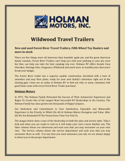 Wildwood Travel Trailers