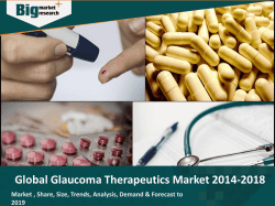 Global Glaucoma Therapeutics Market 2014-2018
