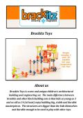 Brackitz Toys: Construction Toys for Girls