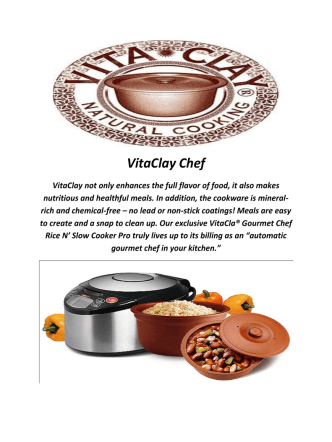 Clay Cooking Pots By VitaClay Chef