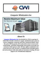 Computer Wholesalers Inc: IT Asset Remarketing Services