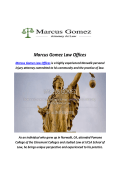 Marcus Gomez Law Offices : Civil Litigation Lawyer Whittier