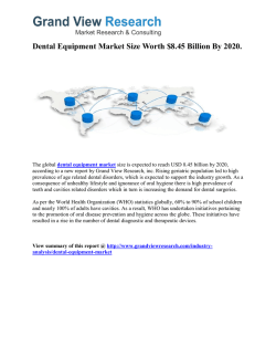 Dental Equipment Market Research Report to 2020