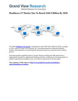 Healthcare IT Market Outlook and Forecast up to 2020