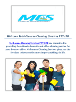 Domestic & Commercial Cleaning Company in Melbourne