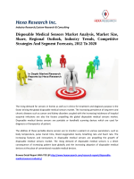 Disposable Medical Sensors Market Analysis, Market Size, Share, Regional Outlook, Industry Trends, Competitive Strategies And Segment Forecasts, 2012 To 2020