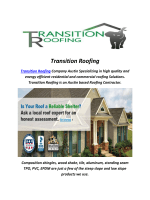 Transition Roofing : Metal Roofing Austin TX