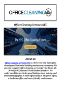 Office Cleaning Services NYC: Commercial Cleaning Company NYC
